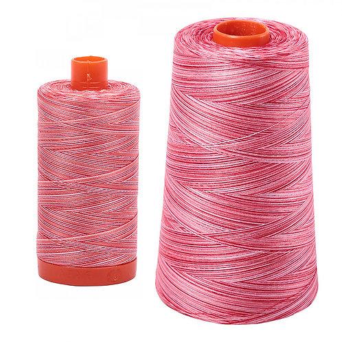 Aurifil Cotton Thread 50wt Variegated Strawberry Parfait 4668