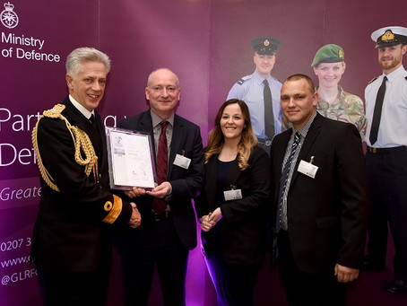 Exsel Group Receives Armed Forces Covenant Employer Recognition Scheme Silver Award 2019