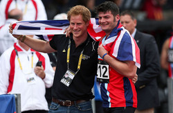 Dave Henson and Prince Harry