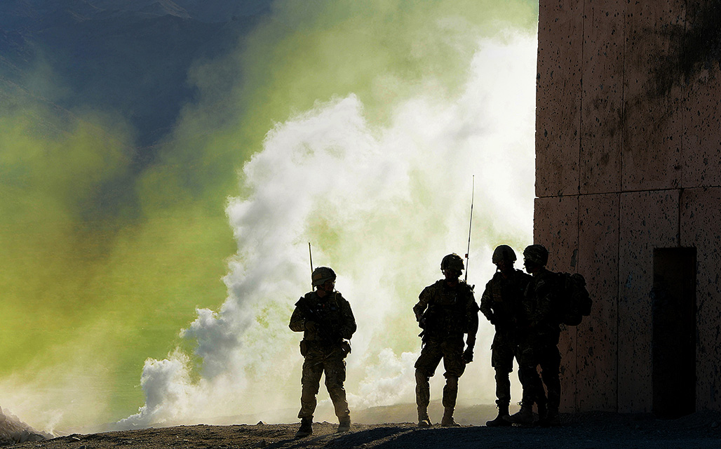 Military Personnel in action