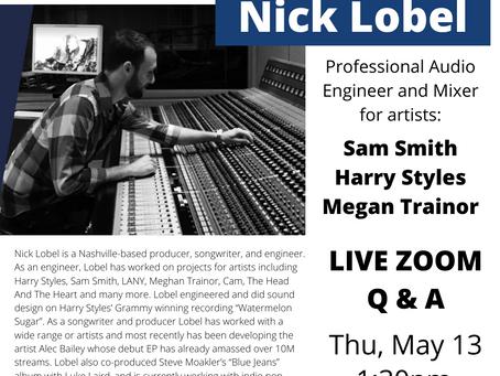 GV Welcomes Award Winning Audio Engineer Nick Lobel