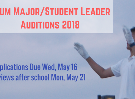 Drum Major & Student Leader Auditions