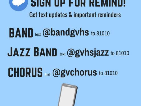 Stay Informed!  Get Important Updates via Remind App