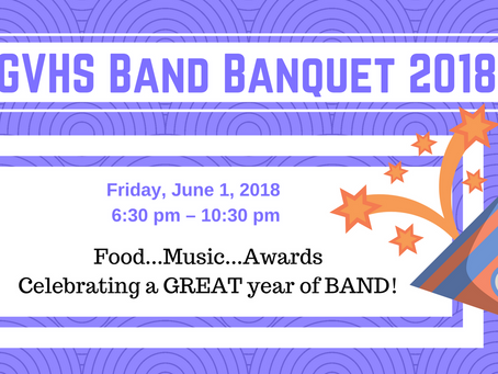 Band Banquet Fri, June 1 - Get your tickets now!
