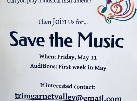 Performers Wanted! Save the Music Concert May 11