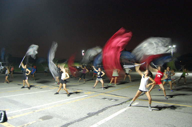 Marching Band at night