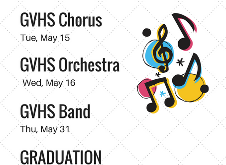 Spring Concert Dates!!