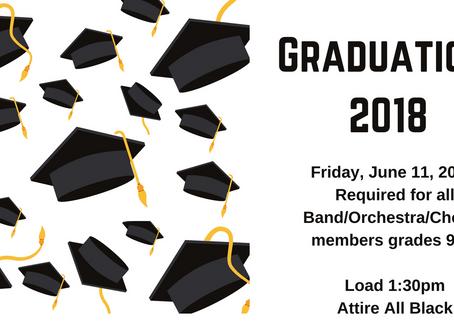 Graduation 2018 - Band/Chorus/Orchestra