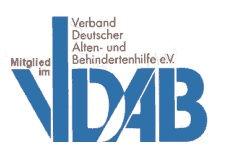 Pflegedienst Muenchen, 24h Pflege Muenchen, Betreutes Wohnen Muenchen.Logo des Verbandes Deutscher Alten und Behindertenhilfe
