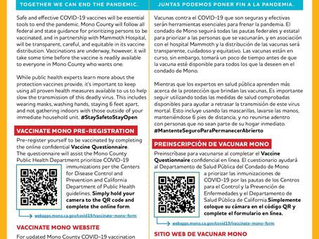 Pre-Register for the Vaccine in Mono County