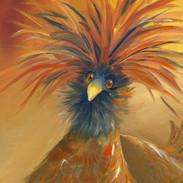 Golden Crowned Chicken   SOLD