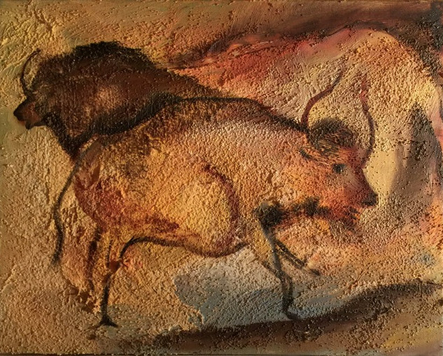 Cave Drawing on Sandstone   SOLD.jp
