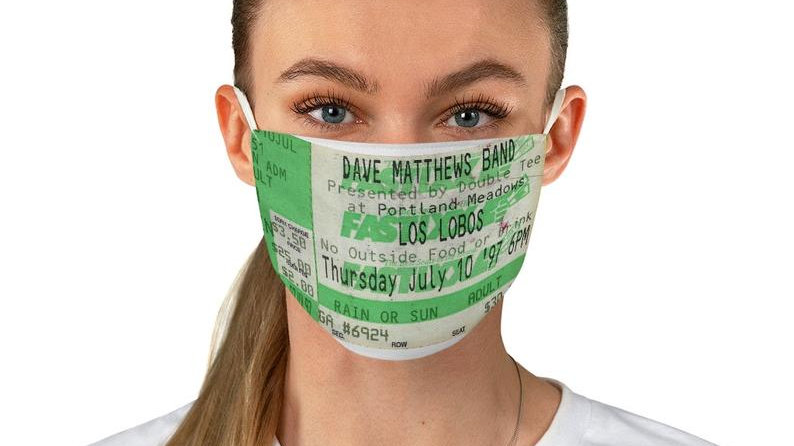 Dave Matthews 1997 Concert Ticket Stub Face Mask