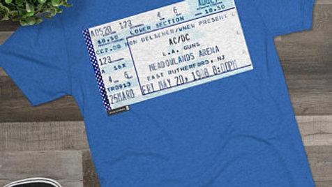 AC/DC Concert Ticket Stub, Men's Tri-Blend Crew Tee
