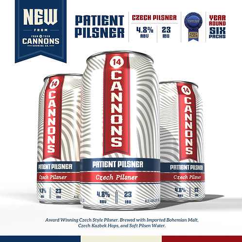 Patient Pilsner - Czech Pilsner - 6 Pack 12oz. Cans