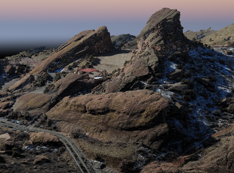 3D Point Cloud - Red Rocks - Aerial Photogrammetry