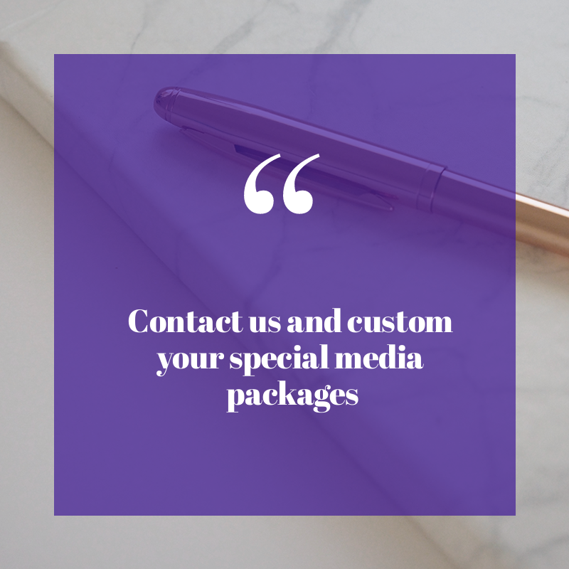 Customize your special media package