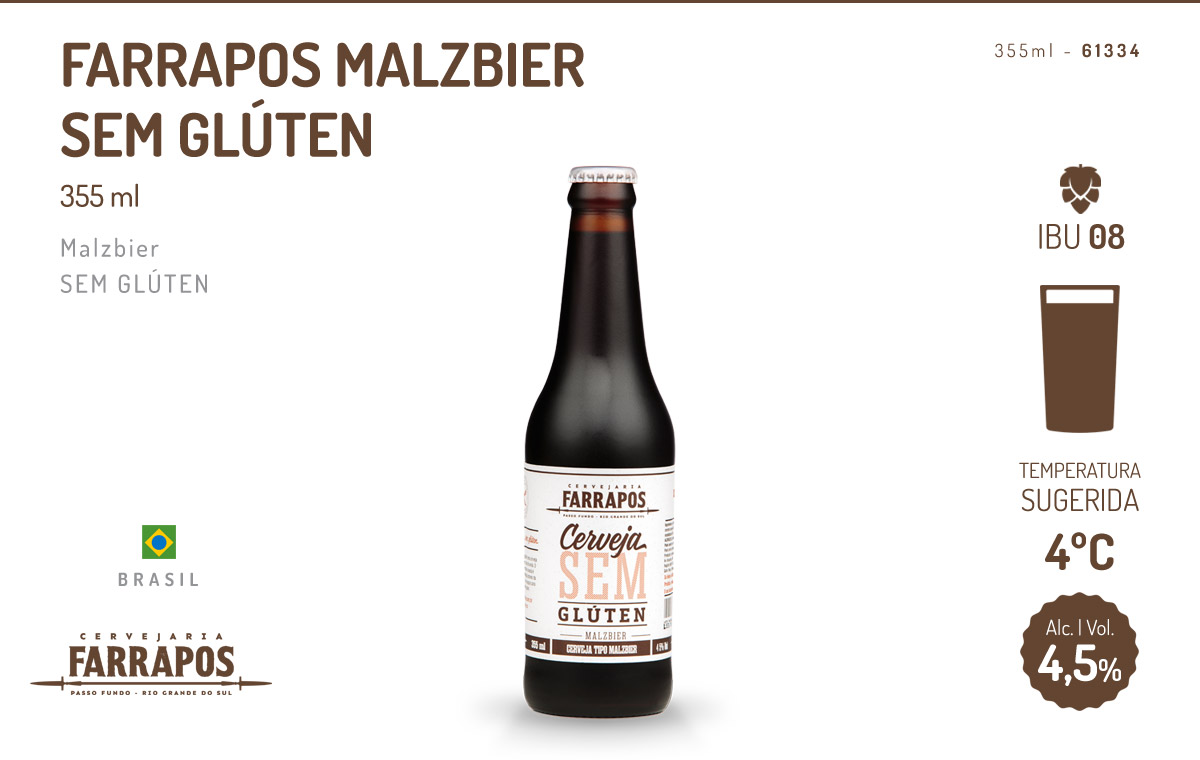 Farrapos Malzbier Sem Glúten