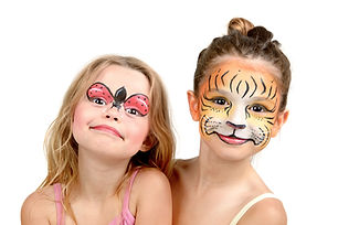 Beautiful young girls with painted faces