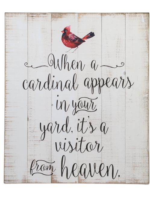 When a Cardinal Appears - Plaque