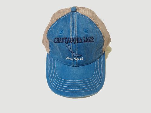 Chautauqua Lake, New York Trucker Cap-Lake Image