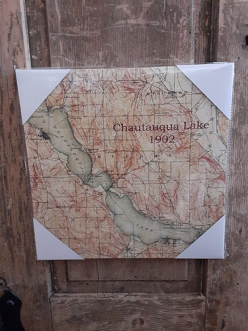 Chautauqua Lake Canvas Map