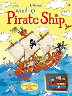 Wind Up Pirate Ship Tracks in a Book