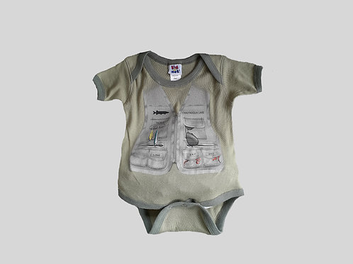 Chautauqua Lake Fishing Vest Infant Bodysuit