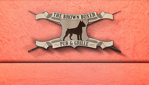 Brown-Boxer-North-Logo-3D-on-Texture-Wal