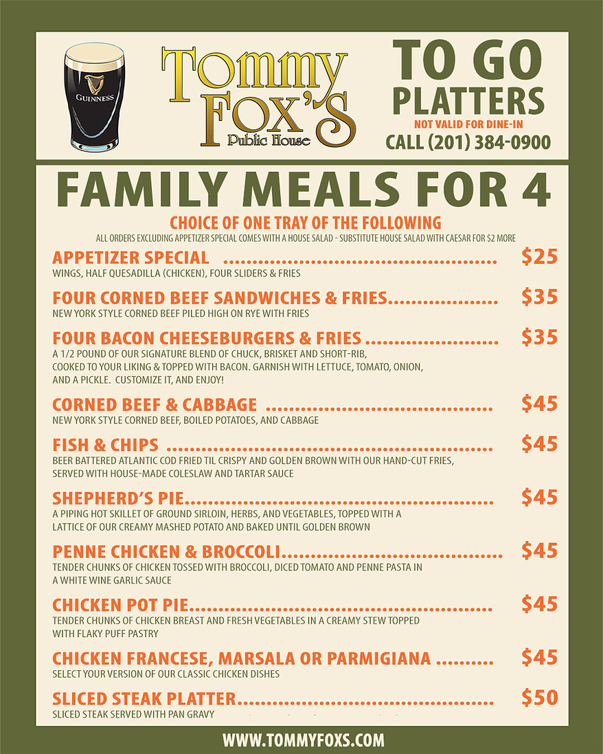 Tommy-Fox's-Dinner-for-4-Platter-To-Go--