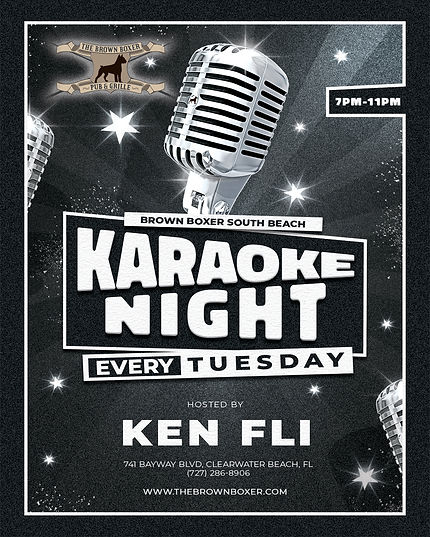 Brown-Boxer-South---Karaoke-Tuesday-Inst
