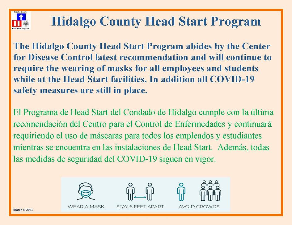 Hidalgo County Head Start Program NOTICE
