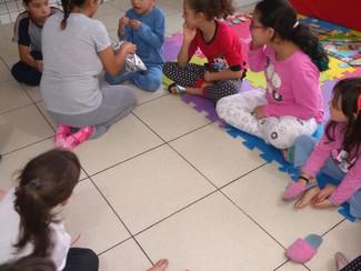 Dia do pijama e amigo secreto com os alunos do Integral