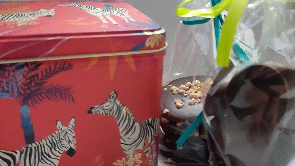 Zebra Gift Tin with Puddles &  Honeycomb Chunks
