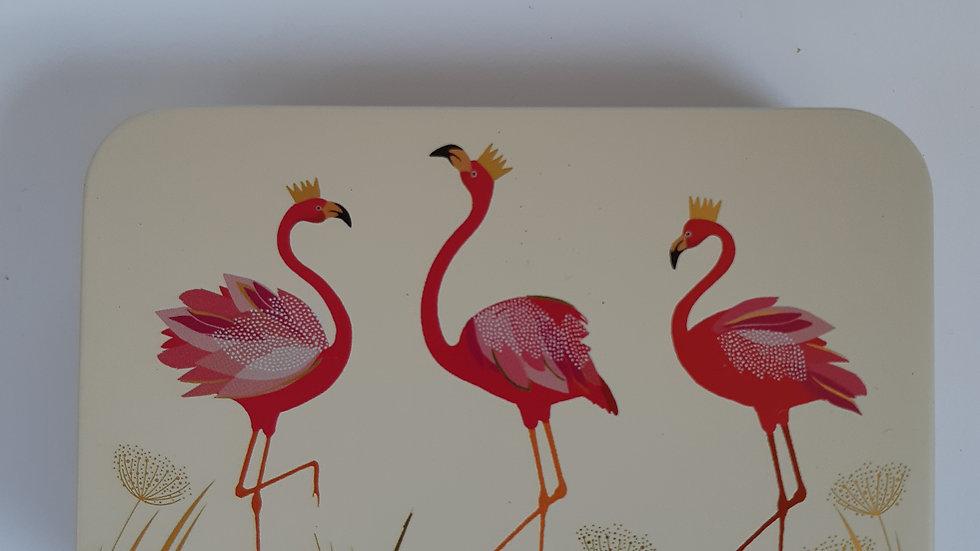Metal Flamingo Gift Tin Containing 6 x Handmade Chocolates