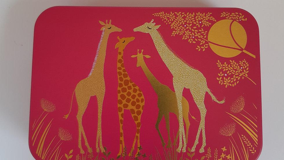 Metal Giraffe Gift Tin Containing 6 x Handmade Chocolates