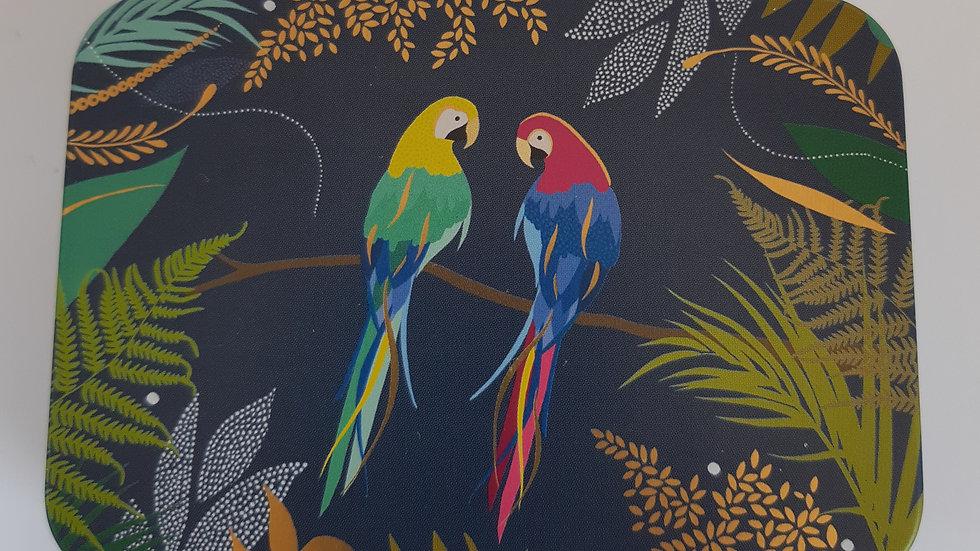 Metal Parrot Gift Tin Containing 6 x Handmade Chocolates