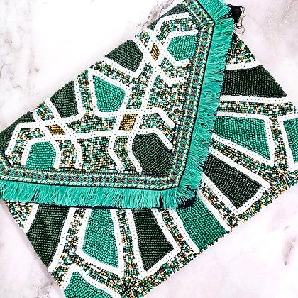 Green Beaded Banjara Bag