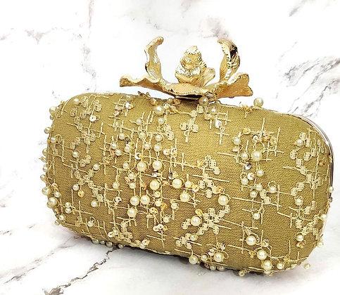 Gold Anastasia Clutch