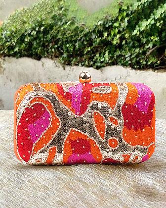 Orange Pink Melange Clutch