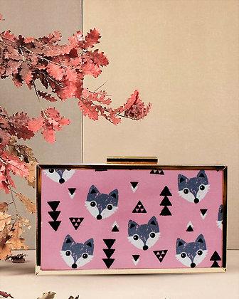 Pink Fox Mystic Box Clutch