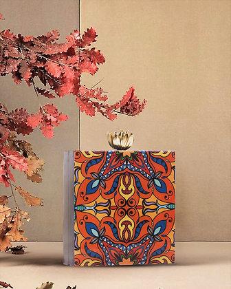Orange Acrylic Box Clutch