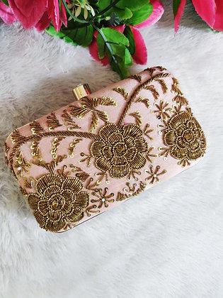 Blush Pink Gold Daze Clutch