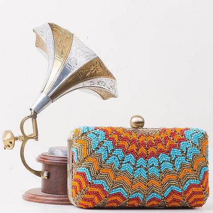 Orange Blue Melange Clutch