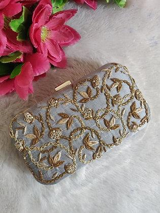 Silver Gold Enamor Clutch