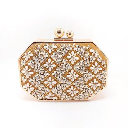 Gold Beaded Nur Jahan Clutch