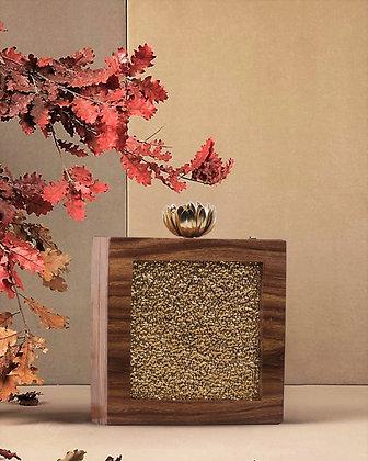 Gold Shimmer  Wooden Clutch