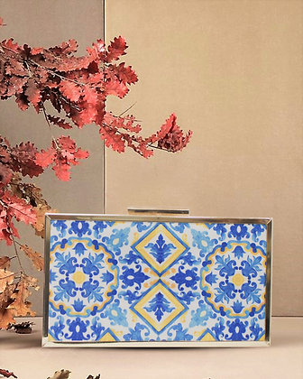 Blue Mystic Box Clutch