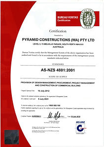 AS4801 OHS Management System Certificate
