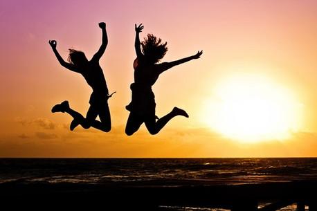 Jump at Sunset